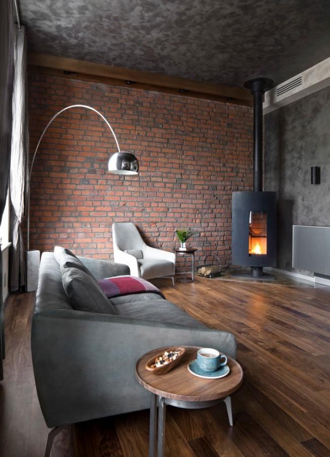 гостиная с камином в современном стиле фото примеров и правильное