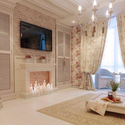 Уютная гостиная в стиле шеббишик