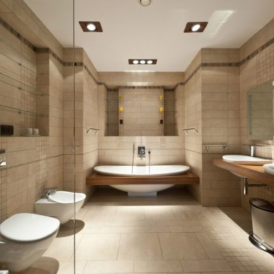 Ванная комната с элементами эко