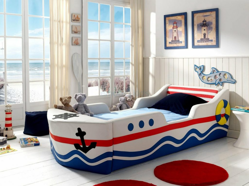 Вариант детской в морском стиле