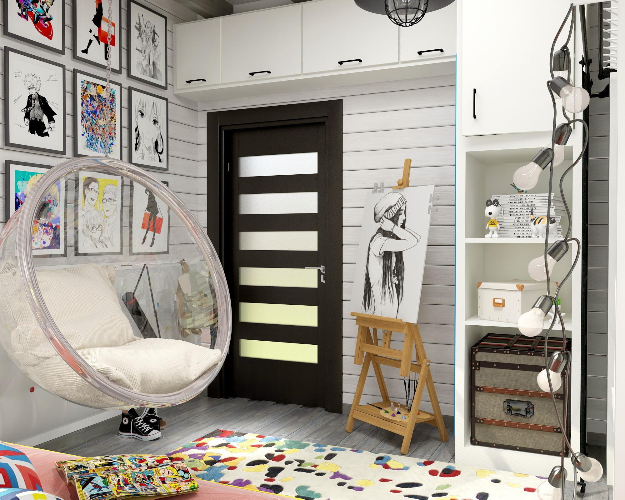 Комната для подростка с аниме акцентами