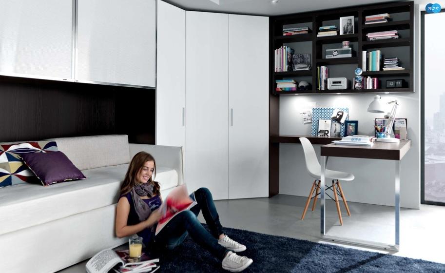 Черно-белая комната для подростка