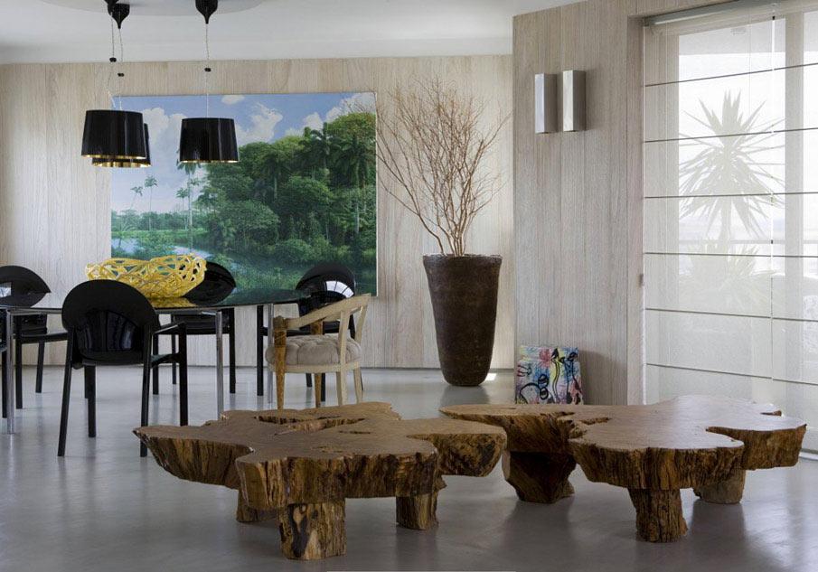 Журнальные столики из массива дерева