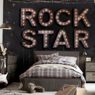 Комната для подростка в рок стиле