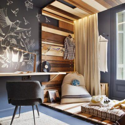 Необычное выделение спальной зоны