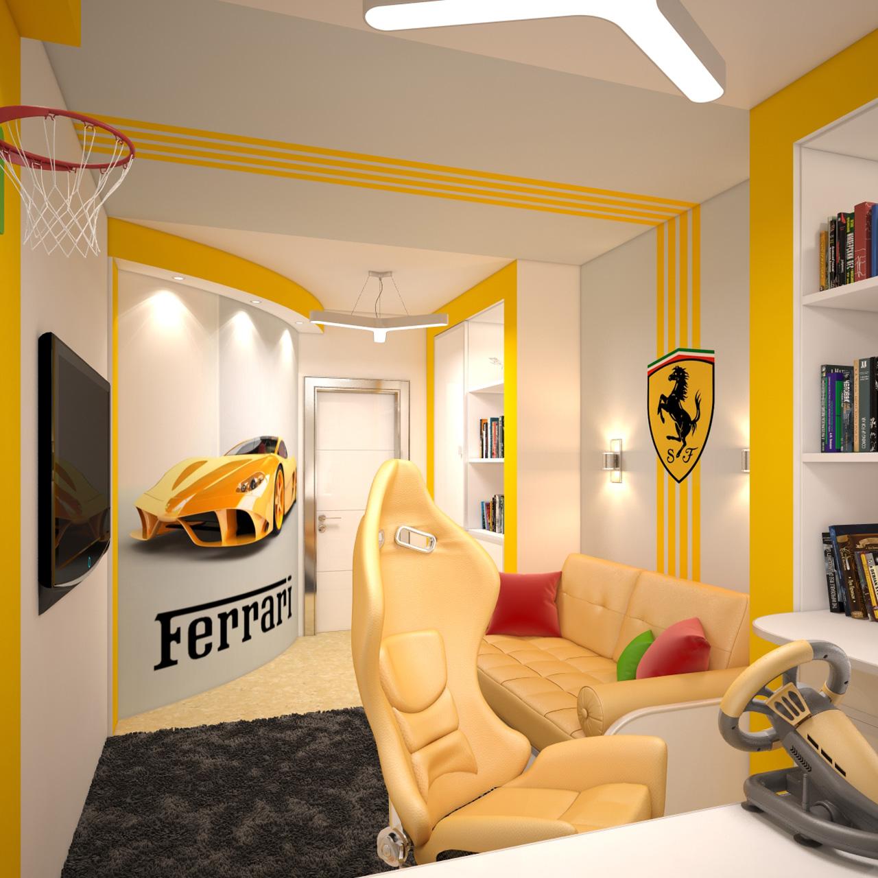 Комната для любителя Феррари