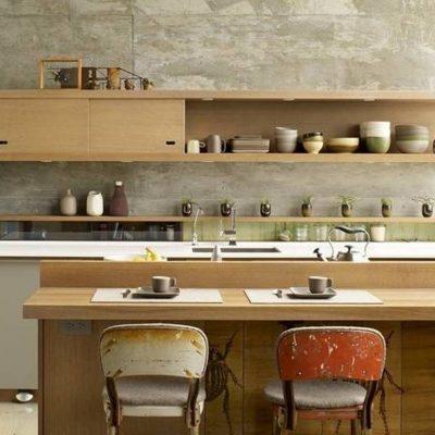 Ретро кухня в стиле контемпорари