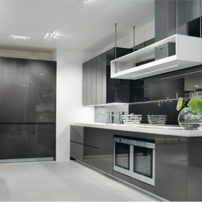 Глянцевая кухня в стиле контемпорари