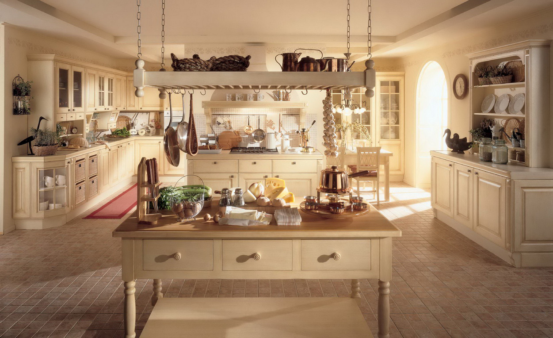 Просторная кухня, оформленная в стилистике прованс