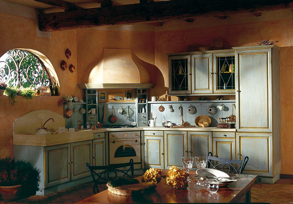 Плита занимает центральное место и в прованском стиле всегда красиво оформлена