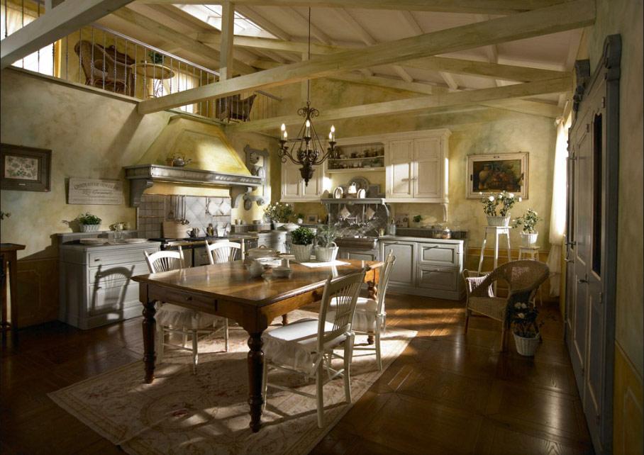 При оформлении в порванском стиле можно использовать старинную мебель и предметы декора