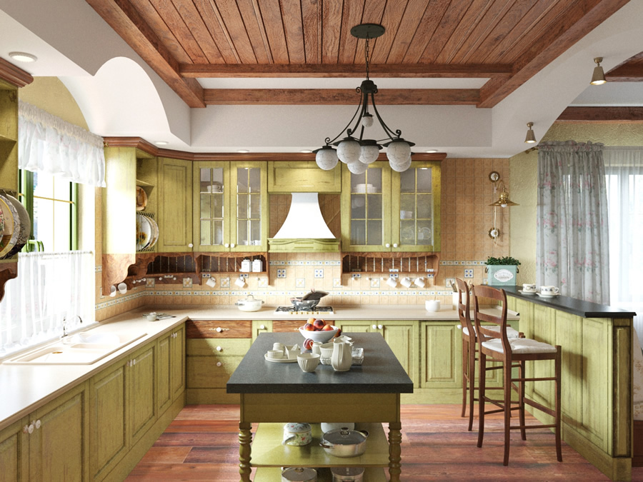 кухня в стиле прованс фото в интерьере