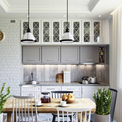 Две люстры на кухню в стиле прованс