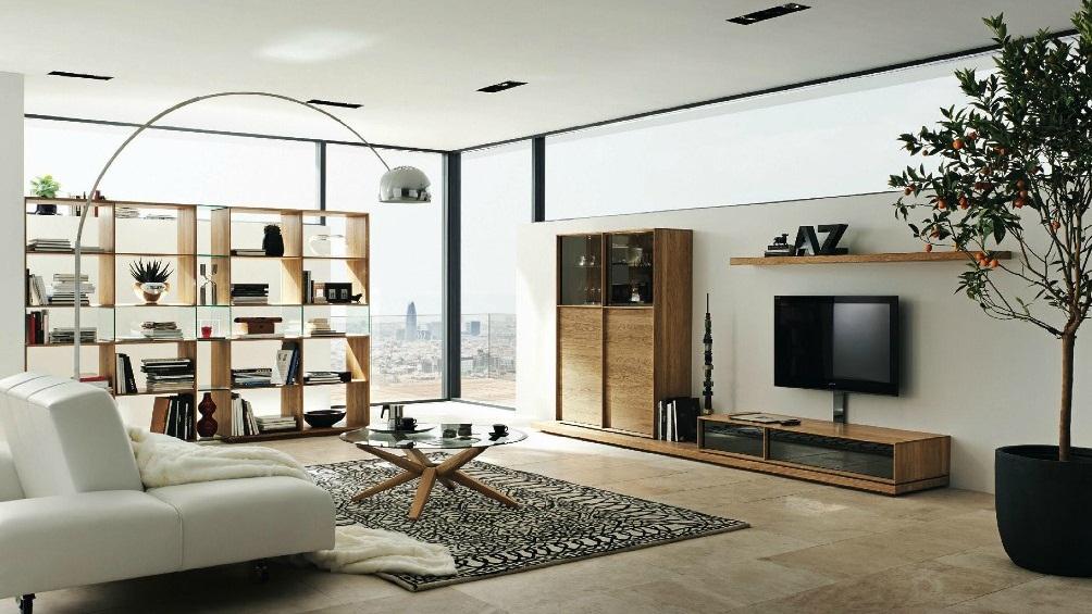 Стеллаж можно использовать для зонирования помещения