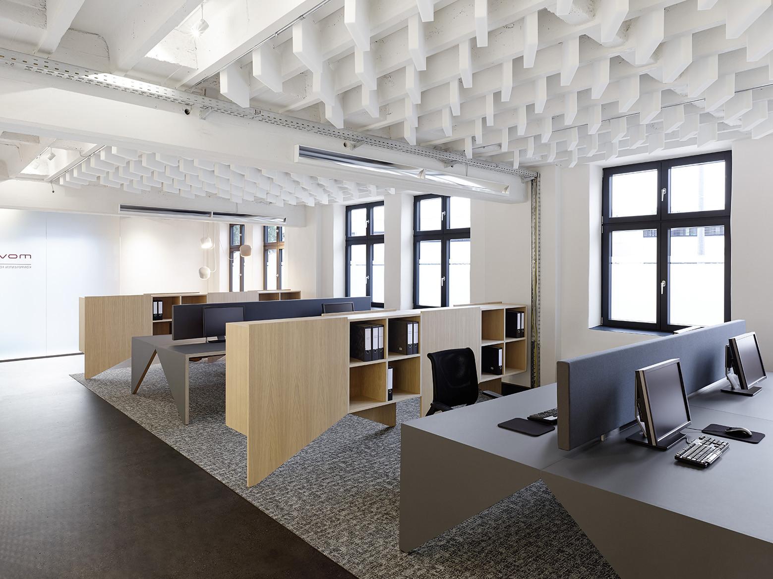 Мебель в стиле модерн прекрасно дополнит минималистичный лофт офис