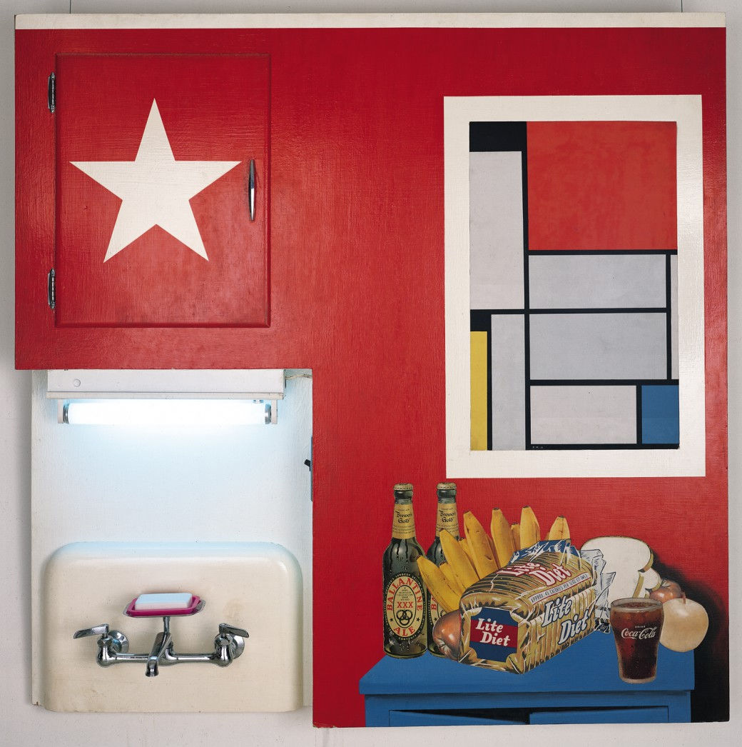 Стоит раскрасить стенку в стиле поп-арт, и комната заиграет новыми красками
