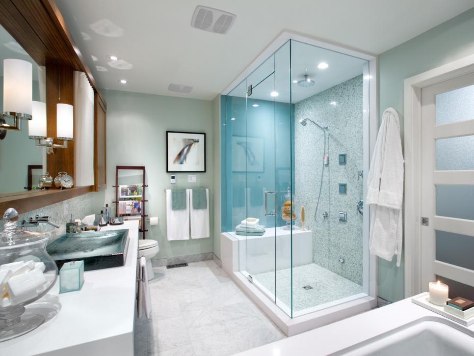 Из ванной комнаты можно сделать целый комплекс для релаксации и приятного времяпровождения