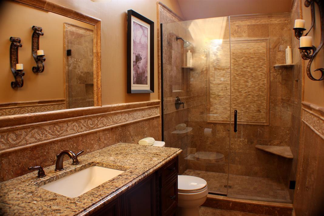 Ванная комната с элементами под мрамор - лучший выбор для ценителей роскоши