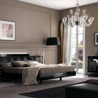 Просторная спальня в стиле арт-деко