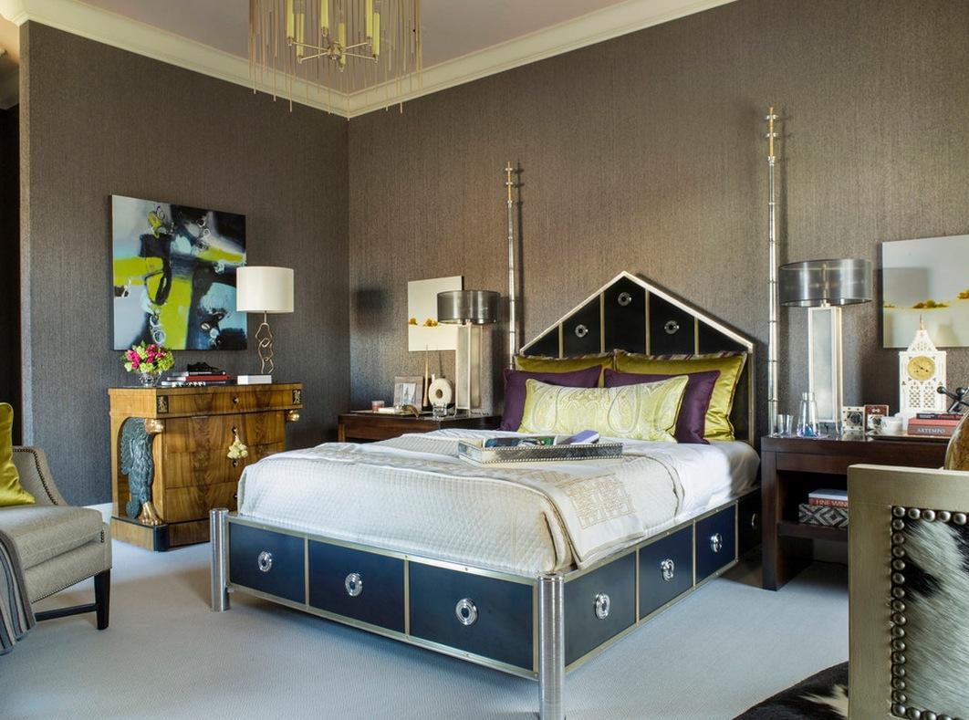 Яркая и неповторимая спальня в стиле арт-деко