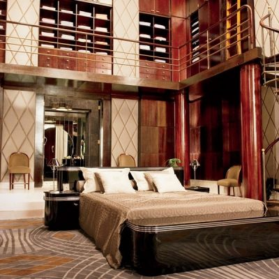 Спальня в стиле арт-деко со вторым этажом