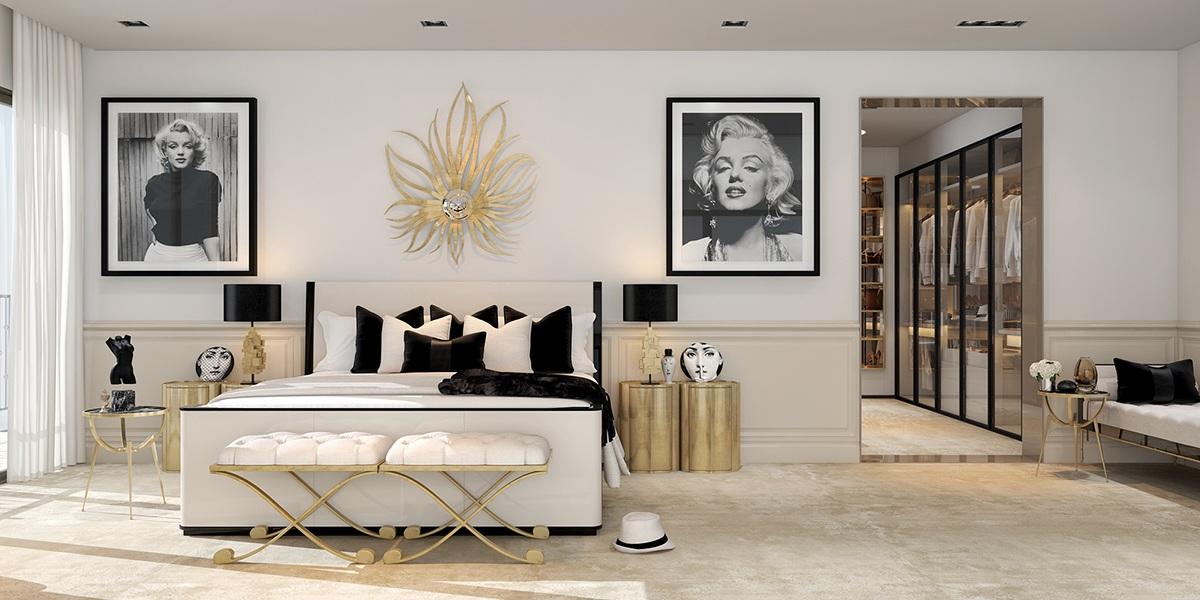 Спальня в стиле арт-деко - это всегда роскошь и элегантность