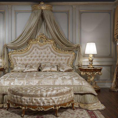 Декор в спальне в стиле рококо