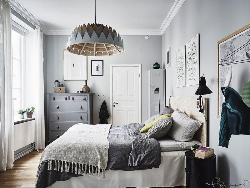 Маленькая спальня, оформленная в скандинавском стиле