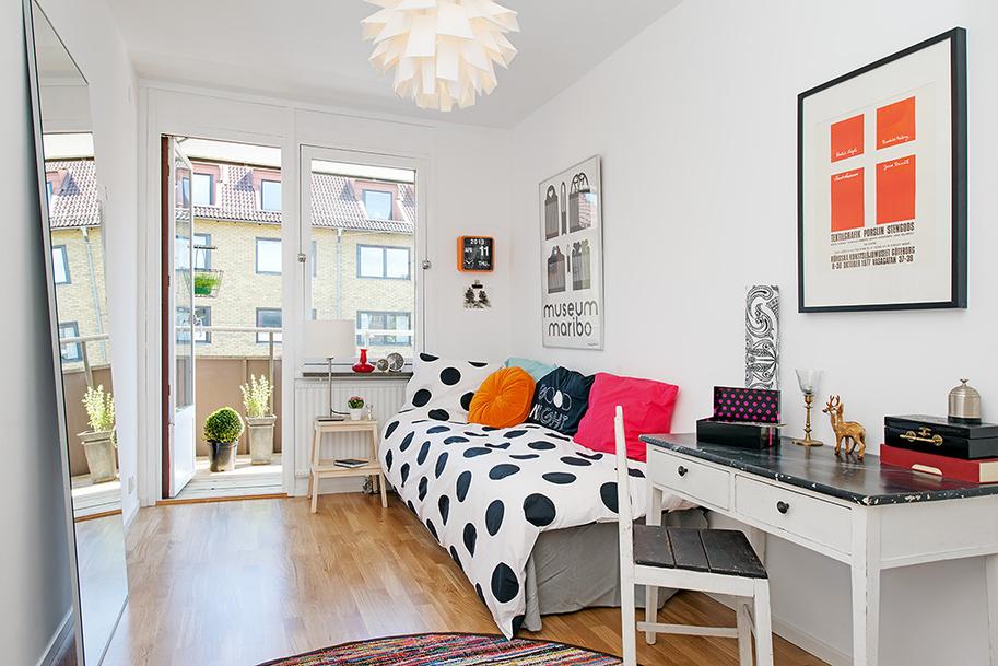 Комната для девочки–подростка в скандинавском стиле