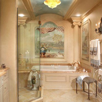 Ванная в средиземноморском стиле в итальянском варианте