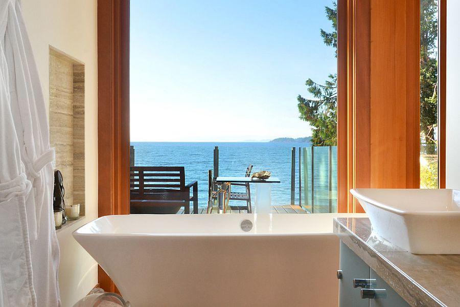 Актуальная и оригинальная ванная в морском стиле
