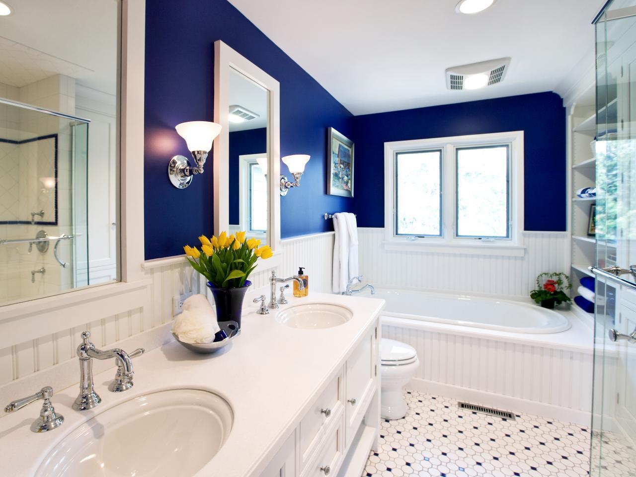Синий - неизменно самый популярный цвет ванной комнаты