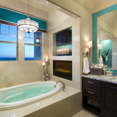 Шикарная ванная в морском стиле