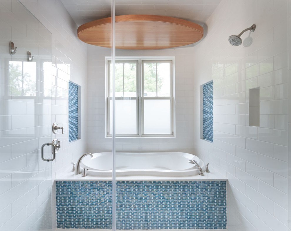 Идеи плитка и мозаика в ванной