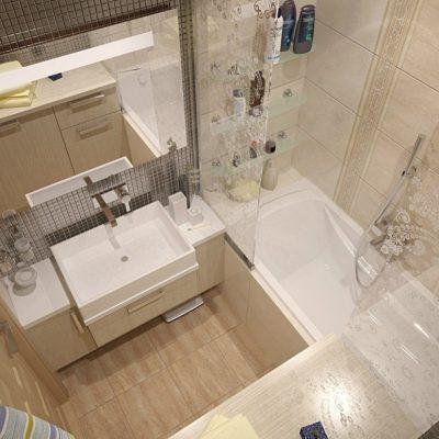 Вид на ванную сверху