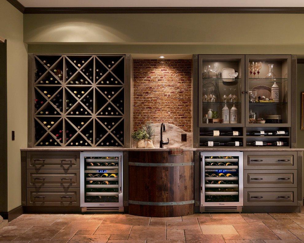 Полки для вина на кухне