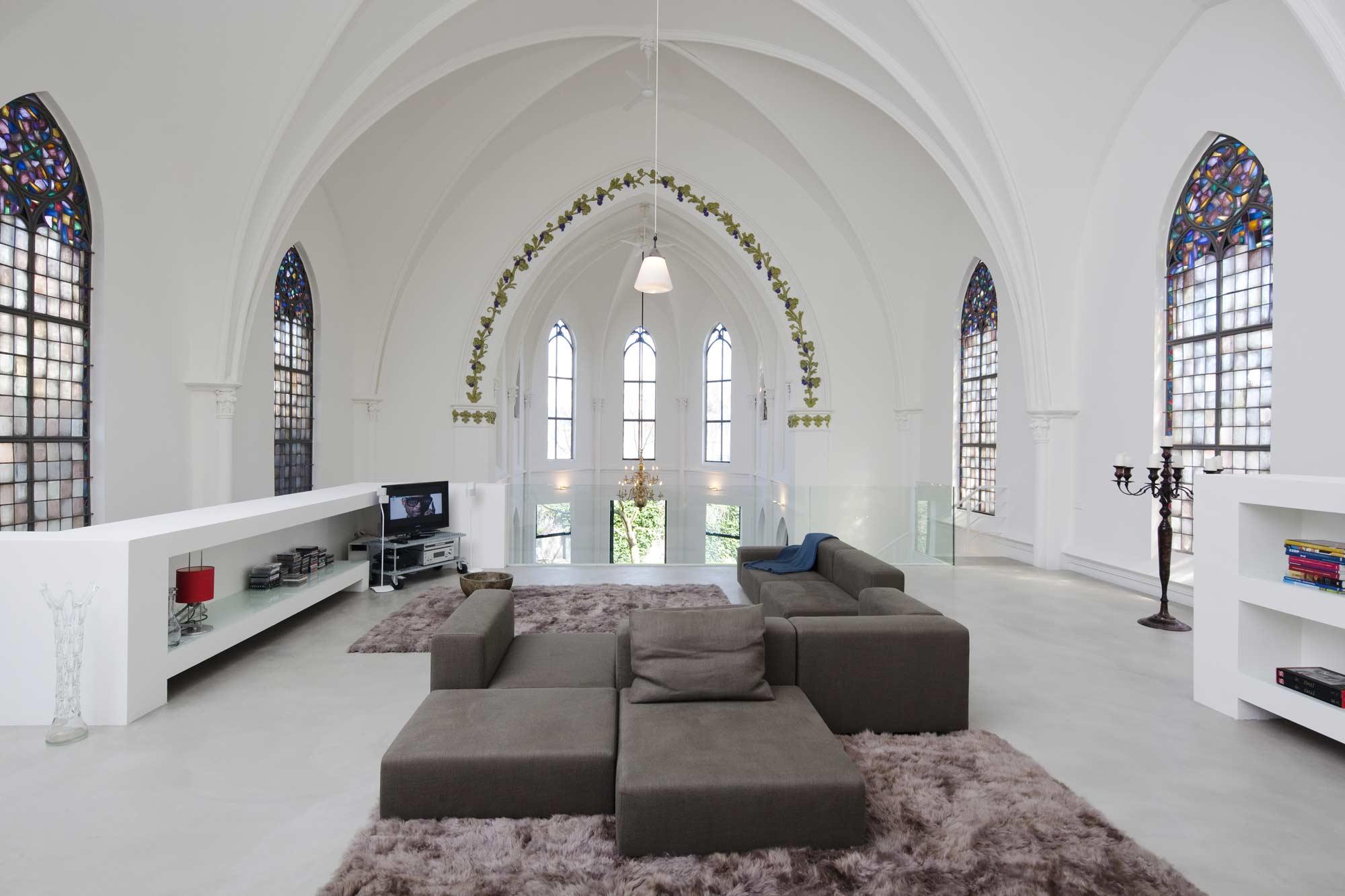Стрельчатый потолок в готическом стиле