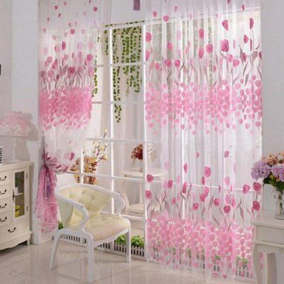 Розовые нежные шторы