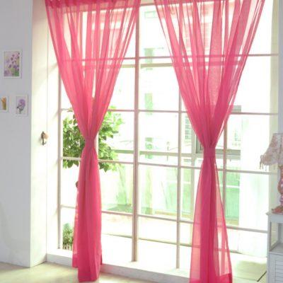 Ярко розовые шторы