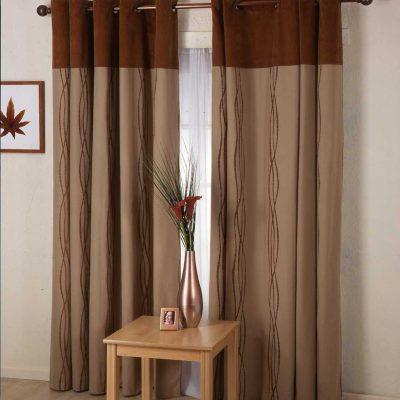 Кофейные шторы в интерьере