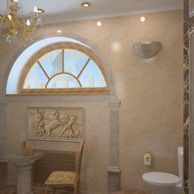 Арочное окно в ванной