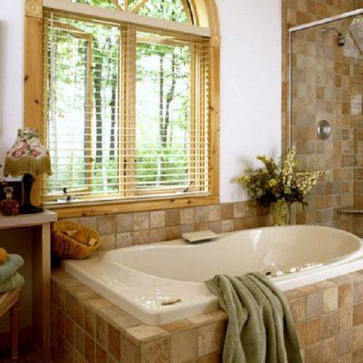 Полотенце на фото в ванной