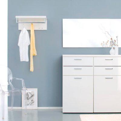 Белая мебель хай тек для прихожей