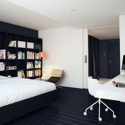 Дизайн интерьера спальной комнаты в стиле минимализм