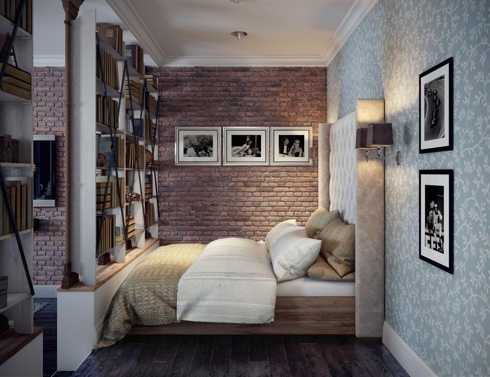 Интерьер в американском стиле фото в однокомнатной квартире