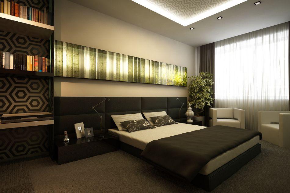 Дизайн спальни в современном стиле фотография