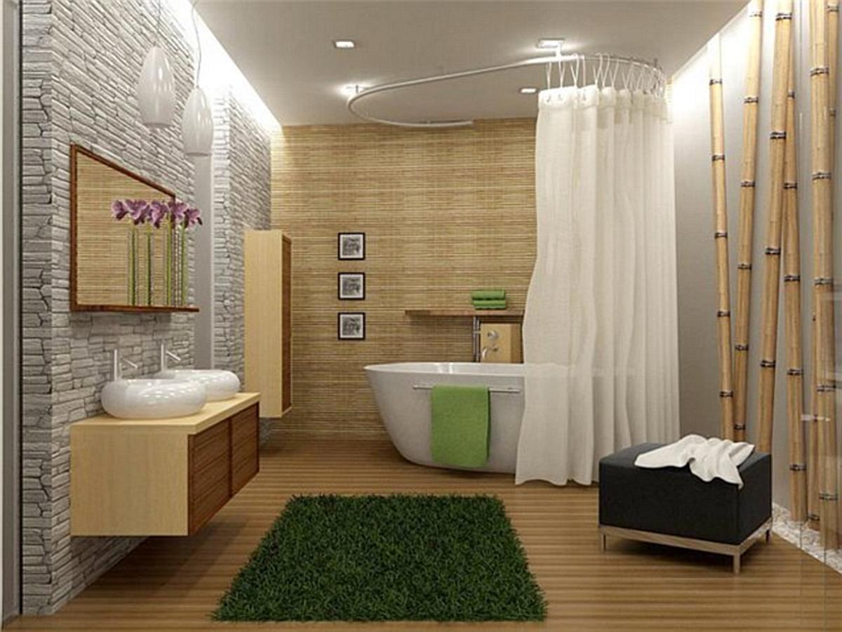 Дизайн ванной комнаты в японском стиле