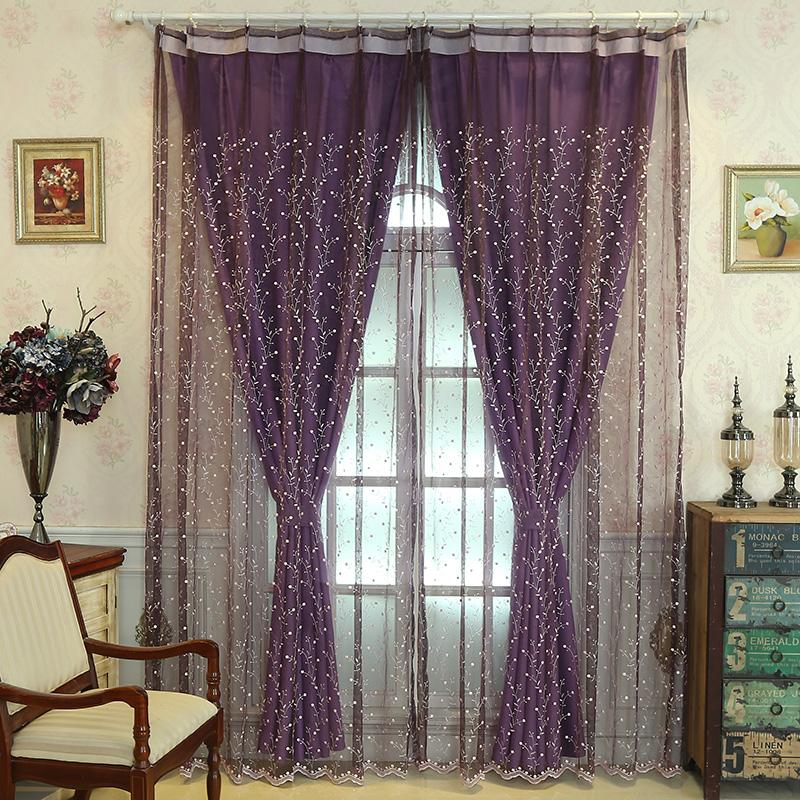 Фиолетового оттенка шторы