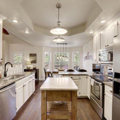 Совмещение двух стилей на кухне