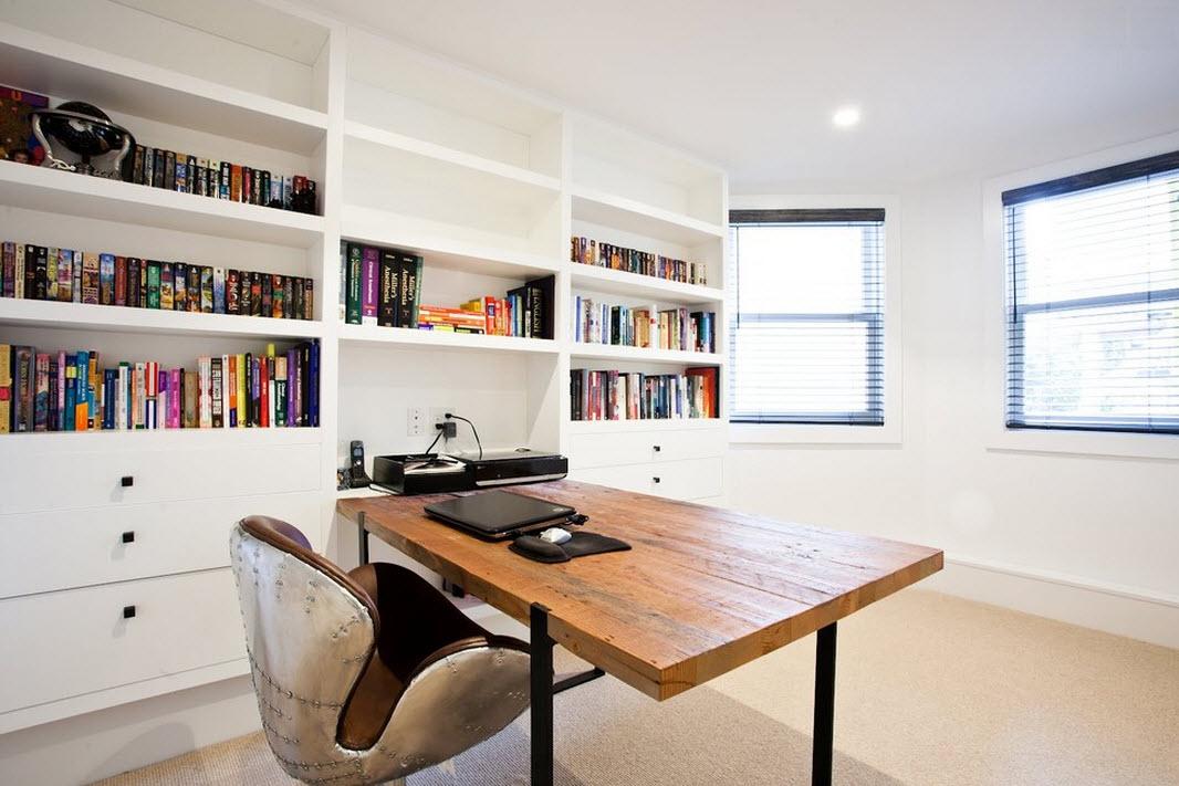 Интерьер кабинета в стиле минимализм